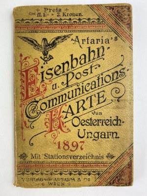 [Freud Aleksander] Mapa kolejowa i pocztowa Austro-Węgier. Z katalogiem stacji kolejowych dla kolejowej i pocztowej mapy Austro-Węgier