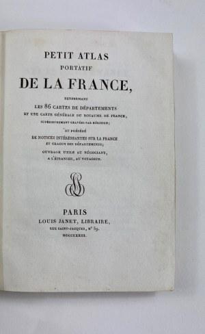 [Atlas w miedziorytach] Petit Atlas Portatif de la France