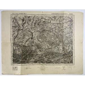 [Mapa fizyczna] Wadowice w skali 1 : 100 000 [1934]