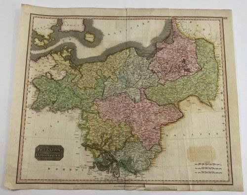 """[Polska Centralna] """"Prussian Dominions"""" Mapa Królestwa Prus"""