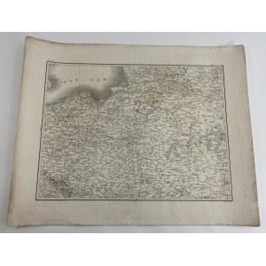 "[Tereny Polski] Mapa ziem Polski. Bez tytułu. Sygn. ""Ritter von Schallern Oberleut. in k. bayer. Generalquartiermeister Stab"""