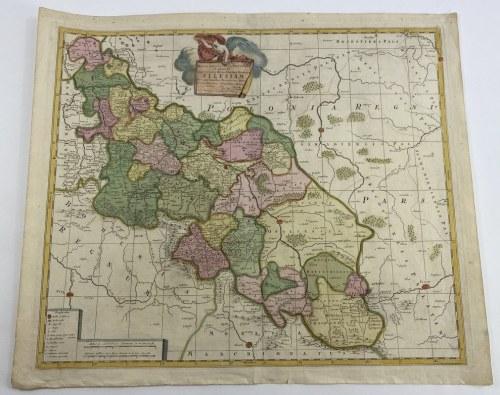 "[Śląsk] Piotr Schenck, Mapa Dolnego i Górnego Śląska. ""Mappa Geographica Exactissima Continens Imperatoris Haereditarium Dominium Silesiam (...) Petro Schenck"