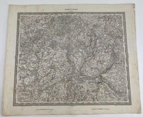 """[Kujawy, Prusy Zachodnie] Mapa zatytułowana """"Marienwerder"""""""
