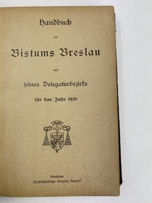 [Schematyzm biskupstwa wrocławskiego] Handbuch des Bistums Breslau