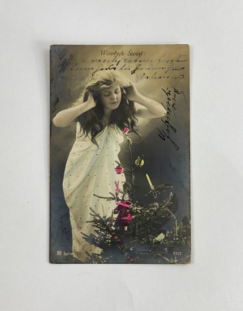 Wesołych Świąt! Karta pocztowa adresowana do Wójta Gminy Kuryłówka Jana Kahla