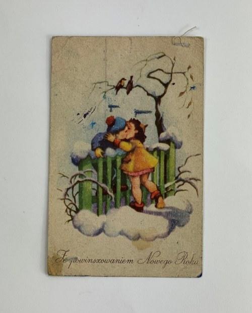 Karta pocztowa Z powinszowaniem Nowego Roku