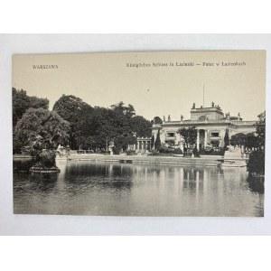 Karta pocztowa Warszawa Koningliches Schloss in Lazienki - Pałac w Łazienkach