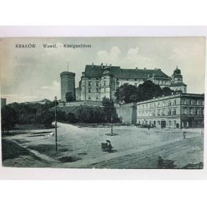Karta pocztowa Kraków Wawel - Koninsschloss, Wydawnictwo Salonu Malarzy Polskich, Kraków 1915