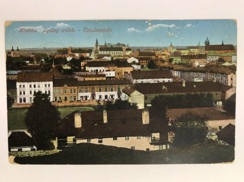 Karta pocztowa Kraków Ogólny widok - Totalansicht, Wydawnictwo Salonu Malarzy Polskich, Kraków 1914