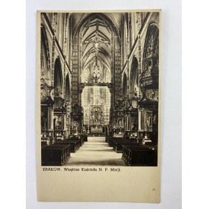 Karta pocztowa Kraków Wnętrze kościoła N. P. Marji, fot. St. Kolowiec
