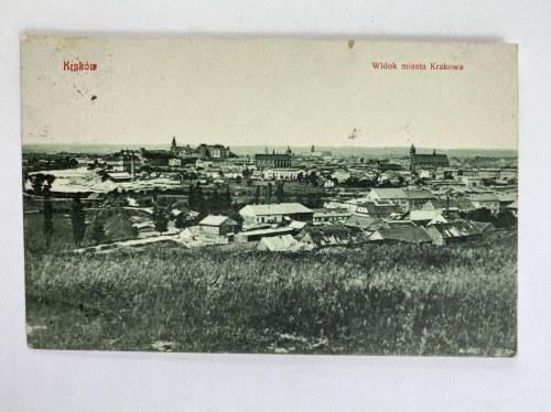Karta pocztowa, Kraków Widok miasta Krakowa, wydał Ch. Katz