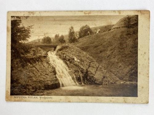 Karta pocztowa Sopotnia Wielka. Wodospady.