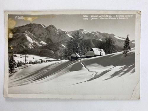 Karta pocztowa Tatry. Giewont i Czerwone Wierchy