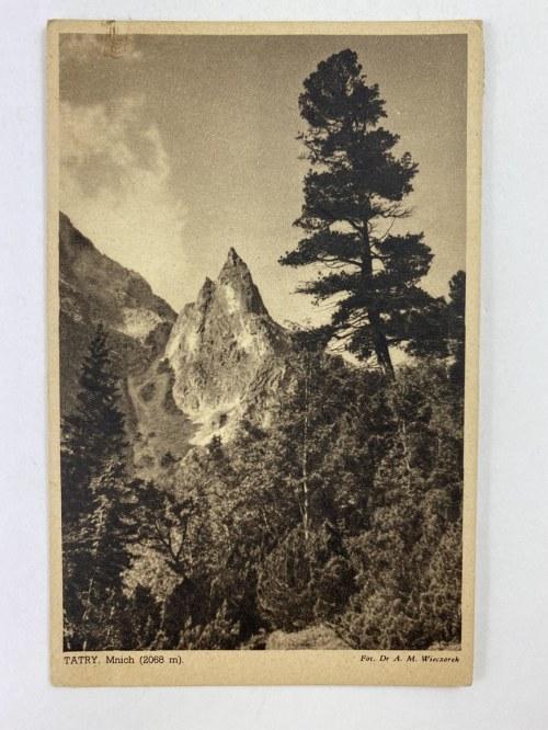 Karta pocztowa Tatry. Mnich (2068 m).