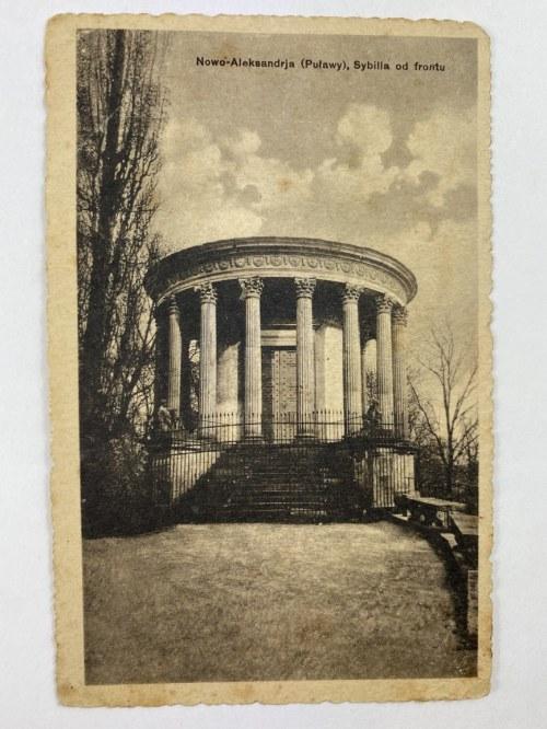 Karta pocztowa Nowo-Aleksandrja (Puławy), Sybilla od frontu