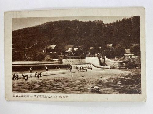 Karta pocztowa Myślenice - Kąpielisko na Rabie