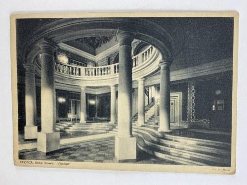 Karta pocztowa Krynica. Nowe łazienki Vestibul
