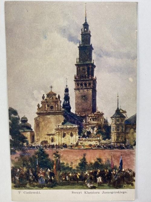 Karta pocztowa T. Cieślewski Szczyt Klasztoru Jasnogórskiego