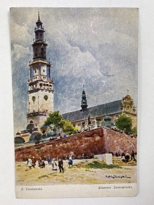 Karta pocztowa T. Cieślewicz Klasztor Jasnogórski