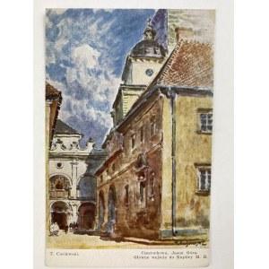 Karta pocztowa T. Cieślewski Częstochowa Jasna Góra Główne wejście