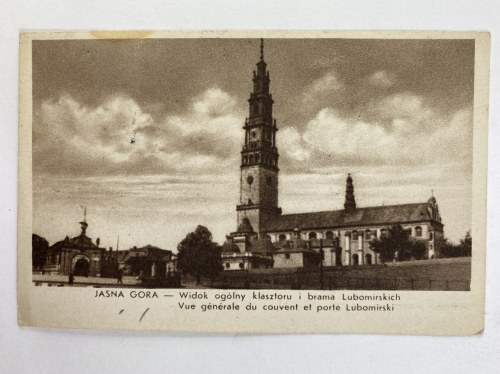 Karta pocztowa Jasna Góra Widok ogólny