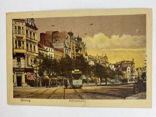 Karta pocztowa Danzig Kohlenmarkt Gdańsk Targ Węglowy