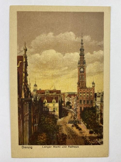 Karta pocztowa Danzig Langer Markt Gdańsk Długi Targ