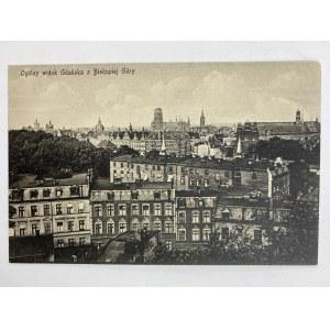 Karta pocztowa Gdańsk. Ogólny widok Gdańska z Biskupiej Góry