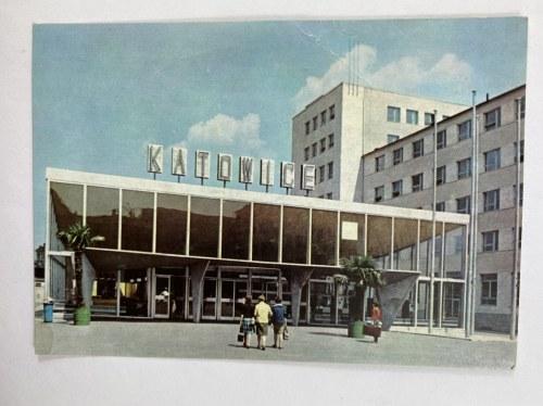 Karta pocztowa Katowice Dworzec PKP przy ul. Andrzeja