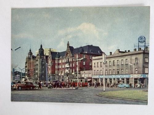 Karta pocztowa Katowice Fragment ulicy Armii Czerwonej [dziś Aleja Korfantego]