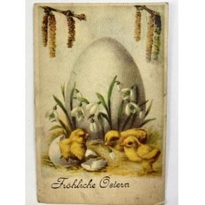 Karta pocztowa Wielkanoc [znaczek z Adolfem Hitlerem][1942]