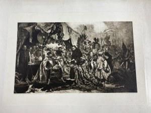 Stefan Batory pod Pskowem Duża heliograwiura na podstawie obrazu Jana Matejki [Kraków 1907]