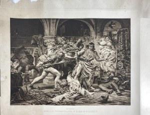 Zabicie Przemysława - reprodukcja obrazu Jana Matejki