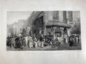 Lipiński Hipolit Wyjście procesji z kościoła Św. Barbary w Krakowie [TPSP 1884]