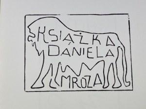 Panek Jerzy Ex libris Per Pazzi e Analfabeti Dla Wariatów i Analfabetów 27 drzeworytów [Mediolan 1993]