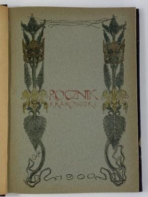 [Wyspiański] Rocznik Krakowski 1900 [Okładka litografowana Stanisława Wyspiańskiego]