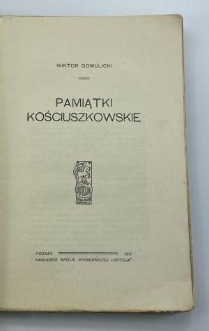 Gomulicki Wiktor, Pamiątki kościuszkowskie
