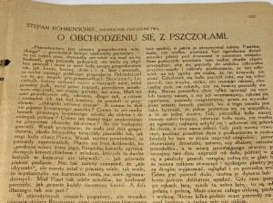 """[Pszczelarstwo][Poczet królów Matejki] Kalendarz """"Piasta"""" na Rok Pański 1919"""