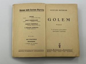 Meyrink Gustaw Golem [okładka F. Ludwig]