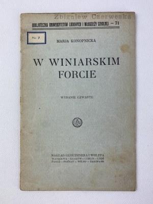 Konopnicka Marja, W winiarskim forcie