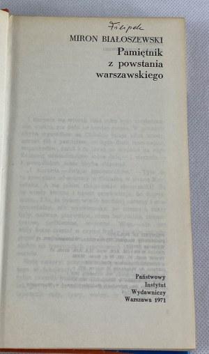 Białoszewski Miron, Pamiętnik z powstania warszawskiego