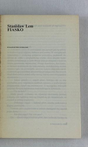 Lem Stanisław, Fiasko [wydanie I]