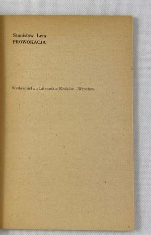 Lem Stanisław, Prowokacja [wydanie I]