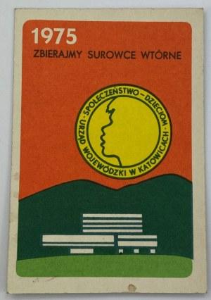 Kalendarzyk Zbierajmy Surowce Wtórne 1975 Urząd Wojewódzki w Katowicach