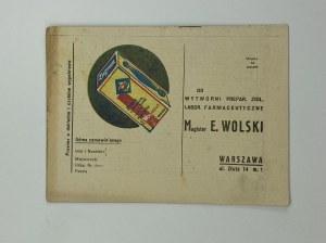 [broszura reklamowa] Zioła lecznicze Magister E. Wolski Warszawa