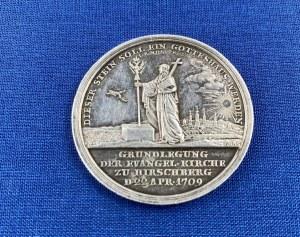 [Jelenia Góra, kościół] Medal dotyczący kościoła w Jeleniej Górze