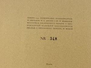 Teka Tatrzańska. Siedem drzeworytów Krystyny Wróblewskiej z wierszem wstępnym Leopolda Staffa