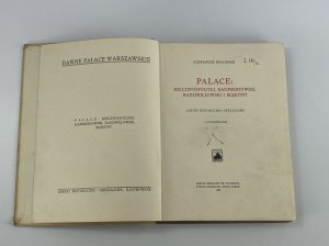 Kraushar Aleksander Dawne Pałace Warszawy 1925