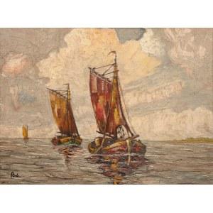 Rudolf Priebe (1889 - 1956 Rudolfstadt), Łodzie na morzu