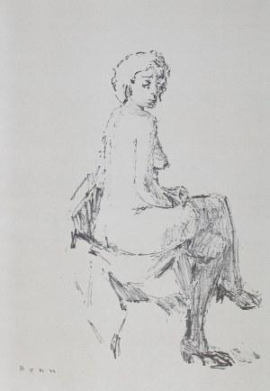 Bencion(Benn) Rabinowicz (1905 Białystok - 1989 Paryż), Akty (Nus), 1948 r.